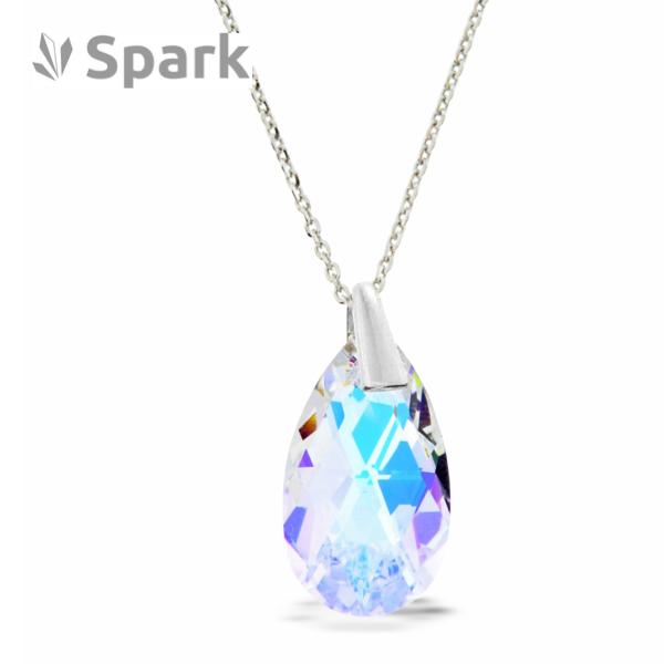 Necklace Drop Swarovski Aurora